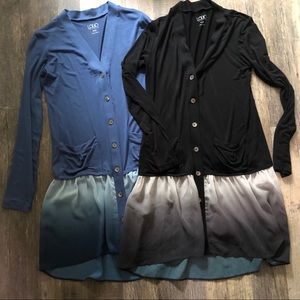 Lori Goldstein | Bundle of Two Button Down Tops